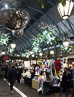 Christmas decorations, lights and christmas tree around London's Covent Garden market and piazza on Saturday November 16th 2019<br /> <br /> Photo by Keith Mayhew
