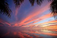 Sunset over the lagoon at Teahupoo, Tahiti, Thursday May 7 2009. Photo: joliphotos.com