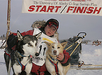 Sunday February 26, 2006 Willow, Alaska.   during the final day of  the Junior Iditarod sled dog race.