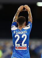 12th July 2020; Stadio San Paolo, Naples, Campania, Italy; Serie A Football, Napoli versus AC Milan; Giovanni Di Lorenzo of Napoli celebrates after scoring in the 34th  minute for 1-1
