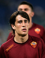 AS Roma forward Bojan Krkic, of Spain, warms up prior to the start of an Europa League preliminary second leg football match between AS Roma and SK Slovan Bratislava, at Rome's Olympic stadium, Roma, 25 august 2011..UPDATE IMAGES PRESS/Riccardo De Luca