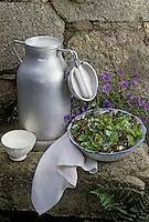 """Europe/France/Auvergne/15/Cantal/Salers: Salade des buronniers  Recette de François Rongier du """"Relais des Gourmets"""""""