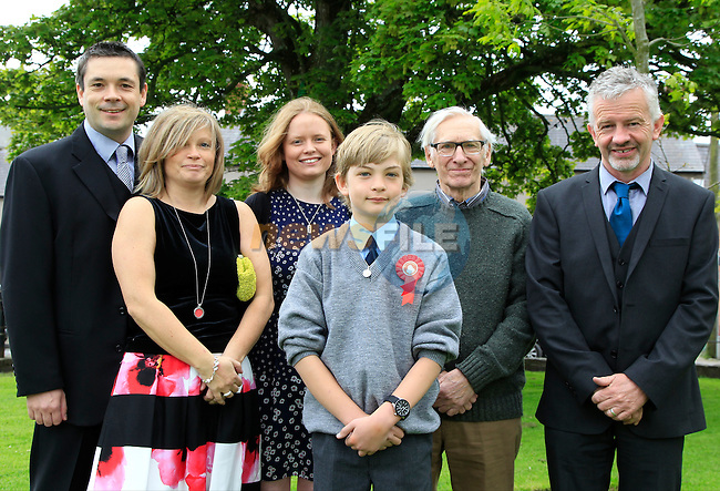 Danny Callaghan with David, Linda, Claire, Dick and Peter during Confirmation for Duleek National School on Friday 22nd May 2015.<br /> Picture:  Thos Caffrey / www.newsfile.ie