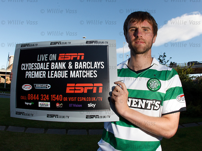 Celtic's Paddy McCourt promotes the new SPL season on ESPN