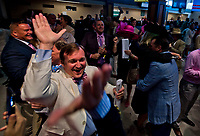 LOUISVILLE, KY - MAY 05: Fans celebrate their horse's win on Kentucky Oaks Day at Churchill Downs on May 5, 2017 in Louisville, Kentucky. (Photo by Scott Serio/Eclipse Sportswire/Getty Images)