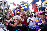 New York, NY 26 June 2015 - Lesbian and Gay families, advocates, and supporters gathered outside the Stonewall In, in Greenwich Village, to celebrate the Supreme Court decision that same-sex marriage is constitutional.