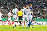 10.08.2019, wohninvest WESERSTADION, Bremen, GER, DFB-Pokal, 1. Runde, SV Atlas Delmenhorst vs SV Werder Bremen<br /> <br /> im Bild<br /> Jubel 1:4, <br /> Yuya Osako (Werder Bremen #08), <br /> Milot Rashica (Werder Bremen #07), <br /> Nuri Sahin (Werder Bremen #17), <br /> <br /> während DFB-Pokal Spiel zwischen SV Atlas Delmenhorst und SV Werder Bremen im wohninvest WESERSTADION, <br /> <br /> Foto © nordphoto / Ewert