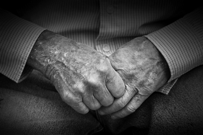 Hands of 90 year old