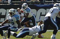 Sept. 17, 2006; San Diego, CA, USA; Tennessee Titans quarterback (10) Vince Young runs the ball against the San Diego Chargers at Qualcomm Stadium in San Diego, CA. Mandatory Credit: Mark J. Rebilas