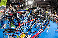 VALENCIA, SPAIN - NOVEMBER 7: Bikes during DOS RODES at Feria Valencia on November 7, 2015 in Valencia, Spain