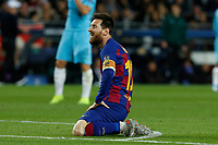 5th November 2019; Camp Nou, Barcelona, Catalonia, Spain; UEFA Champions League Football, Barcelona versus Slavia Prague;  Leo Messi looks up to see his shot miss the goal - Editorial Use