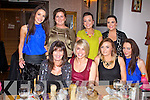 PARTY TIME: The staff of the Glam Pod and Sanctuary Beauty Academy, Tralee enjoying a night out at the Bella Bia restaurant, Tralee on Saturday seated l-r: Mary O'Donoghue, Aileen Goodman, Tara O'Sullivan and Marisa Prendiville. Back l-r: Maria Keane, Fiona O'Donoghue, Ciara Murphy and Esther Cronin.