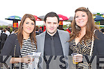 Laura O'Regan, Tom Lucey and Lisa O'Connor Killarney having fun at the Killarney Races on Sunday