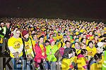 The crowd of 4,000+ who marched at the Darkness into Light walk at Killarney Racecourse Saturday morning
