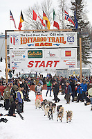 Hugh Neff Willow restart Iditarod 2008.