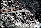 Silverton/Durango excursion train on the High Line.<br /> D&amp;RGW  Silverton-Durango High Line, CO