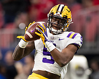 ATLANTA, GA - DECEMBER 7: Marcel Brooks #9 of the LSU Tigers during a game between Georgia Bulldogs and LSU Tigers at Mercedes Benz Stadium on December 7, 2019 in Atlanta, Georgia.