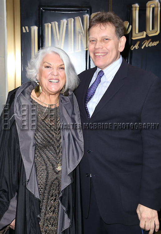 Tyne Daly and John V. Fahey attends the Broadway Opening Night Performance of  'Living on Love'  at  The Longacre Theatre on April 20, 2015 in New York City.