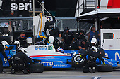 Verizon IndyCar Series<br /> Iowa Corn 300<br /> Iowa Speedway, Newton, IA USA<br /> Sunday 9 July 2017<br /> Scott Dixon, Chip Ganassi Racing Teams Honda pit stop<br /> World Copyright: Phillip Abbott<br /> LAT Images<br /> ref: Digital Image abbott_iowa_0717_5389