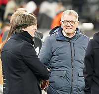 Bundestrainer Joachim Loew (Deutschland Germany) mit DFB Präsident Fritz Keller - 09.10.2019: Deutschland vs. Argentinien, Signal Iduna Park, Freunschaftsspiel<br /> DISCLAIMER: DFB regulations prohibit any use of photographs as image sequences and/or quasi-video.