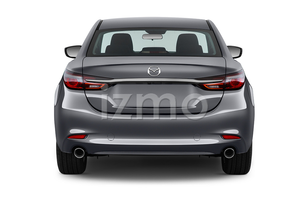 Straight rear view of 2018 Mazda Mazda6 Dynamique 4 Door Sedan Rear View  stock images