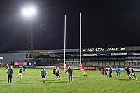 Pictured: Players train. Tuesday 20 February 2019<br /> Re: Neath RFC training at The Gnoll in Neath, south Wales, UK.