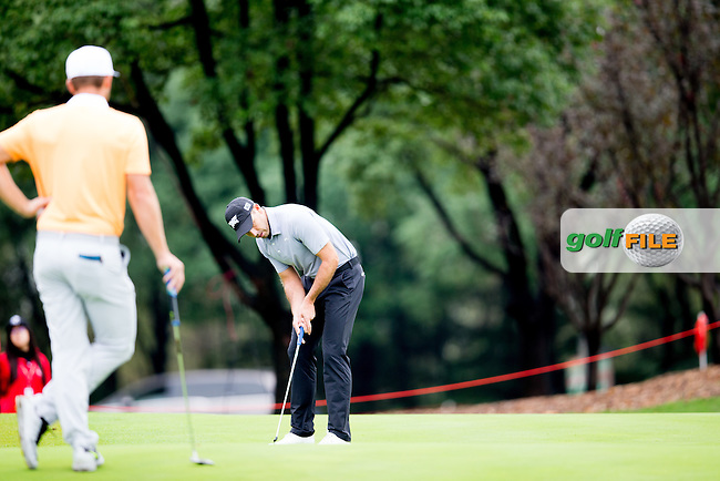 Charl Schwartzel (RSA) on the 10th during the 1st round of the  WGC-HSBC Champions, Sheshan International GC, Shanghai, China PR.  27/10/2016<br /> Picture: Golffile | Fran Caffrey<br /> <br /> <br /> All photo usage must carry mandatory copyright credit (&copy; Golffile | Fran Caffrey)