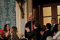 FEBRUARY 5, 2019 - WASHINGTON, DC: Timothy Matson, guest of the First Lady, at the Capitol in Washington, DC on February 5, 2019. Photo Credit: Doug Mills/CNP/AdMedia