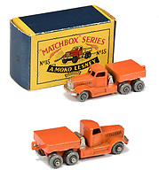 BNPS.co.uk (01202 558833)<br /> Pic: Vectis/BNPS<br /> <br /> Pictured: Matchbox Regular Wheels 15a Diamond T Prime Mover <br /> <br /> One man's vast collection of model cars amassed over a lifetime has sold at auction for an incredible £250,000.<br /> <br /> Simon Hope, 68, has been collecting matchbox models since he was a small child and has bought over 4,000 over the past six decades.<br /> <br /> His hobby has cost him thousands of pounds and at and engulfed a huge slice of his life but he has now decided to part with the toys