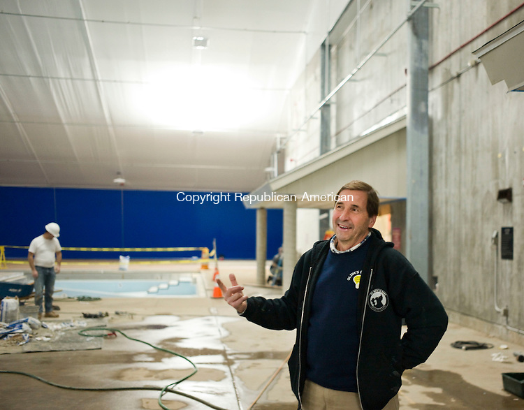 Cheshire, CT- 15 January 2016-011516CM01-  Mark Nash, Public Building Commission Chairman talks about the newly renovated Cheshire Community Pool on Friday. The facility is scheduled to open to the public on Feb. 8. Christopher Massa Republican-American