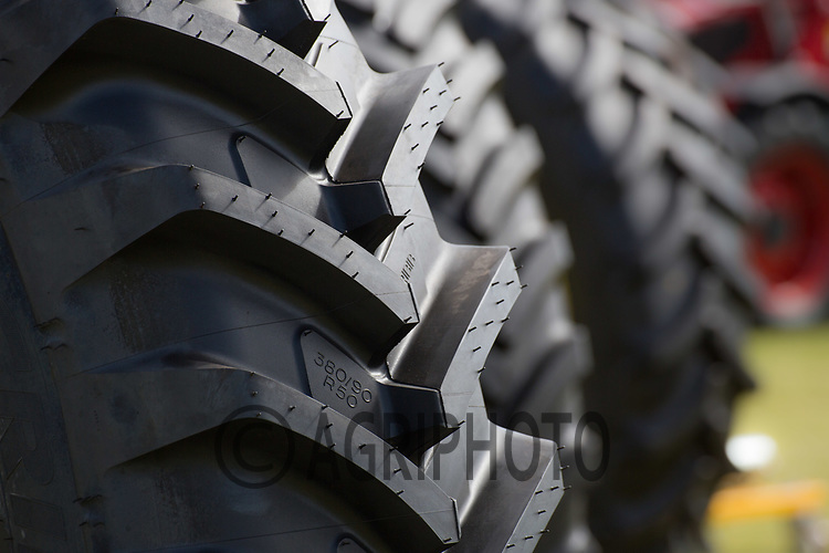 Tyres on display <br /> Picture Tim Scrivener 07850 303986<br /> &hellip;.covering agriculture in the UK&hellip;.