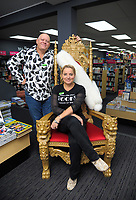 Warwick and Sarah Delmonte at Paperplus in Masterton, New Zealand on Friday, 11 May 2018. Photo: Dave Lintott / lintottphoto.co.nz
