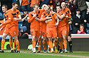 DUNDEE UTD'S JOHNNY RUSSELL CELEBRATES AFTER HE SCORES THE SECOND