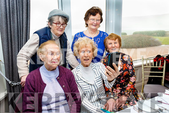 Taking a selfie at the Senior Citizens annual social in the Skellig hotel, Dingle, last Sunday organised by the West Kerry Care of the Aged group, in the selfie are, seated, L-R Bridie Fitzgerald with Lena&Doreen O'Brien, back L-R Nora O'Connor&Maria Goodwin, all from Camp.