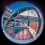 15 August 2017: A fisheye view of the Washington Nationals dugout prior to a game against the Los Angeles Angels at Nationals Park in Washington, DC. The Nationals defeated the Angels 3-1 in the first game of their 2-game series. Mandatory Credit: Ed Wolfstein Photo *** RAW (NEF) Image File Available ***