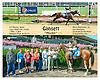 Gansett winning at Delaware Park on 8/12/15