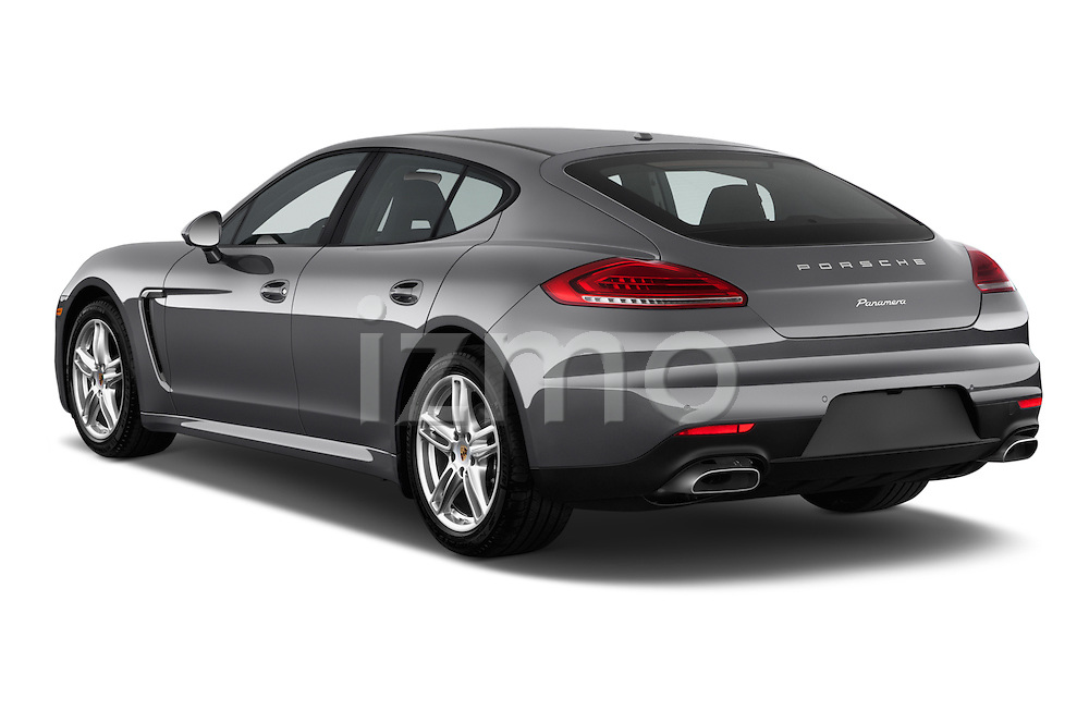 Car pictures of rear three quarter view of a 2015 Porsche Panamera - 5 Door Hatchback 2WD Angular Rear