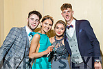Cian Hanley, Leonie Downing, Roisin Moriarty and Dan McCarthy, pictured at Pobalscoil Inbhear Scéine, Kenmare Debs, held at the Brandon Hotel, Tralee, on Friday night last.