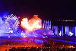 Opening show of the bicentenary of the Battle of Waterloo. Show Inferno from Luc Petit with Bernard Yerles in the rules of Victor Hugo. Waterloo, 18 june 2015, Belgium