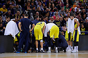 8th December 2017, Palau Blaugrana, Barcelona, Spain; Turkish Airlines Euroleague Basketball, FC Barcelona Lassa versus Fenerbahce Dogus Istanbul; Fenerbahce Dogus Istanbul during a time-out