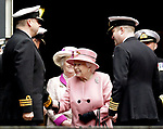 27.03.2018, Plymouth; UK: QUEEN ELIZABETH<br /> bid farewell to HMS Ocean, the Royal Navy&rsquo;s largest operational warship at a de-commissioning ceremony held at Devonport Naval Base, Plymouth.<br /> Mandatory Credit Photo: MoD/NEWSPIX INTERNATIONAL<br /> <br /> IMMEDIATE CONFIRMATION OF USAGE REQUIRED:<br /> Newspix International, 31 Chinnery Hill, Bishop's Stortford, ENGLAND CM23 3PS<br /> Tel:+441279 324672  ; Fax: +441279656877<br /> Mobile:  07775681153<br /> e-mail: info@newspixinternational.co.uk<br /> *All fees payable to Newspix International*