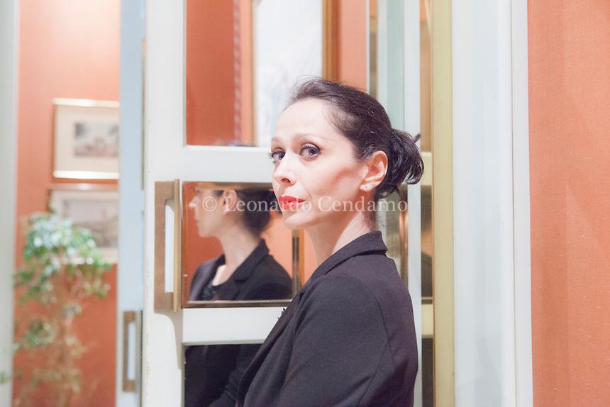 """Piera Ventre, è stata scelta nella cinquina del premio Neri Poza con il libro """" PalazzoKimbo """". Milano, 6 ottobre 2015. c Leonardo Cendamo"""