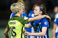 Boston, MA - Saturday April 29, 2017: Megan Rapinoe and Rose Lavelle during a regular season National Women's Soccer League (NWSL) match between the Boston Breakers and Seattle Reign FC at Jordan Field.