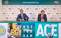Rotterdam, The Netherlands, 17 Februari 2019, ABNAMRO World Tennis Tournament, Ahoy, Final, press conferencece with tournament director Richard Krajicek (L) and Dimitri Bonthuis<br /> Photo: www.tennisimages.com/Henk Koster