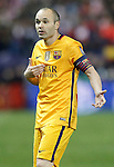 FC Barcelona's Andres Iniesta during Champions League 2015/2016 Quarter-Finals 2nd leg match. April 13,2016. (ALTERPHOTOS/Acero)