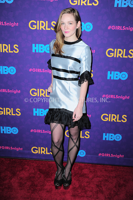 WWW.ACEPIXS.COM<br /> <br /> <br /> January 6, 2014, New York City, NY.<br /> <br /> <br /> Louisa Krause arriving at the 'Girls' Season 3 Premiere at Jazz at Lincoln Center on January 6, 2014 in NEw York City, NY.<br /> <br /> <br /> <br /> <br /> By Line:  William Bernard/ACE Pictures<br /> <br /> ACE Pictures, Inc<br /> Tel: 646 769 0430<br /> Email: info@acepixs.com