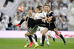 Real Madrid's Lucas Vazquez and AFC Ajax's Nicolas Tagliafico during a UEFA Champions League match. Round of 16. Second leg. March, 5,2019. (ALTERPHOTOS/Alconada)