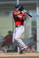 Boston Red Sox Jordan Betts (19) during a minor league spring training game against the Baltimore Orioles on March 18, 2015 at Buck O'Neil Complex in Sarasota, Florida.  (Mike Janes/Four Seam Images)