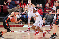 Stanford, CA - January 8, 2017: Stanford falls to Oregon State 72-69 in double overtime at Maples Pavilion.