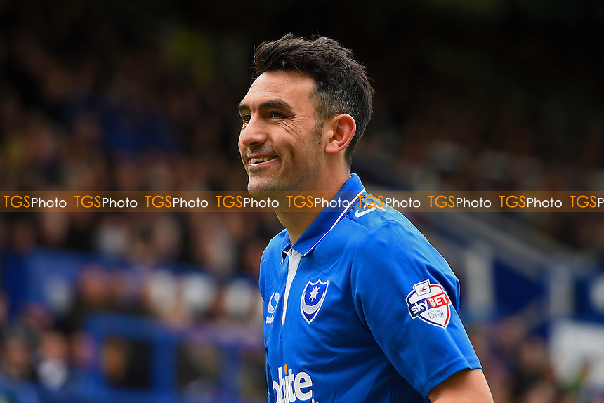 Gary Roberts of Portsmouth during Portsmouth vs Plymouth Argyle, Sky Bet League 2 Football at Fratton Park on 16th April 2016
